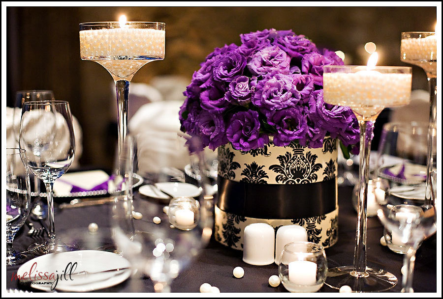 purple, Centerpieces
