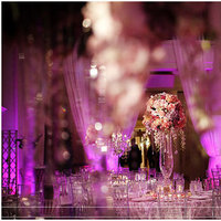 Reception, Flowers & Decor, Destinations, white, pink, purple, silver, gold, North America, Centerpieces, Centerpiece, Wedding, Crystal, Indian, Miami, Bling, Jennifer j events