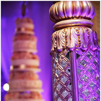 Reception, Flowers & Decor, Cakes, Destinations, white, pink, purple, silver, gold, cake, North America, Flowers, Wedding, Indian, Miami, Bling, Jennifer j events