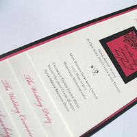 Ceremony, Flowers & Decor, Stationery, pink, black, Invitations, Wedding, Program, Booklet, La bella rue