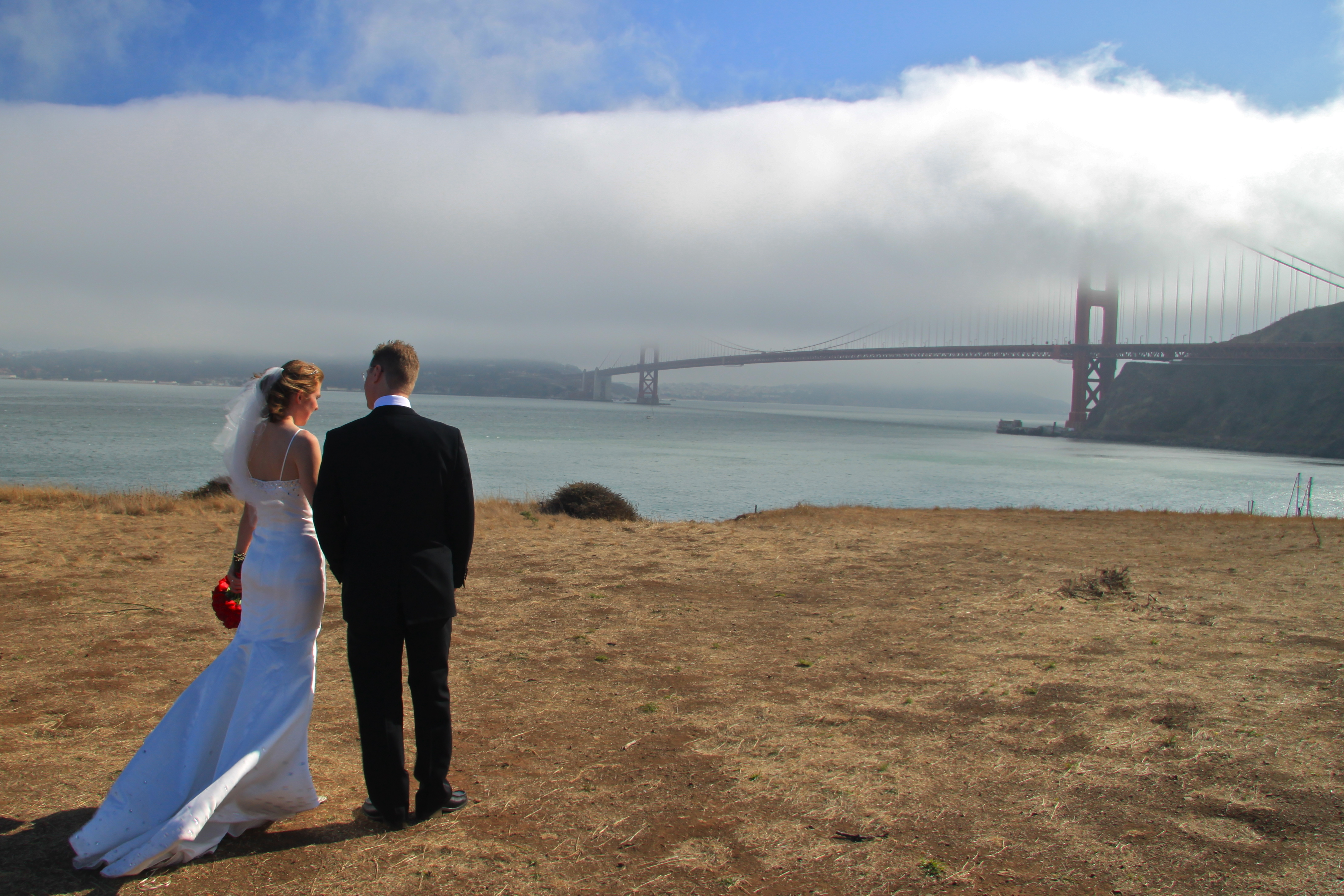 Ceremony, Flowers & Decor, Destinations, Beach, Garden, Beach Wedding Flowers & Decor, Gate, Destination, Weddings, Golden, San, Francisco, Bridge, San francisco destination weddings