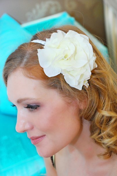 Beauty, Ceremony, Flowers & Decor, Bridesmaids, Bridesmaids Dresses, Shoes, Fashion, white, ivory, silver, Headbands, Flower, Wedding, Hair, Bridal, Crystal, Hydrangea, Headband, Rhinestones, Tessa kim
