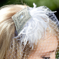 Reception, Hair, white, Ceremony, Bridesmaids, black, silver, Veil, Crystal, Fascinator, Birdcage, Clip, Rhinestone, Mini, Comb, Feather, Veils, Tessa kim, Kim, Tiny, Tessa, Flowers & Decor, Beauty, Feathers, Fashion, Bridesmaids Dresses, Feather Wedding Dresses