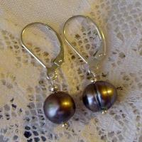 Jewelry, blue, gray, silver, Earrings, Modern, Classic, Grey, Gift, Pearl, Feminine, Genuine, Attendant, A little practicality