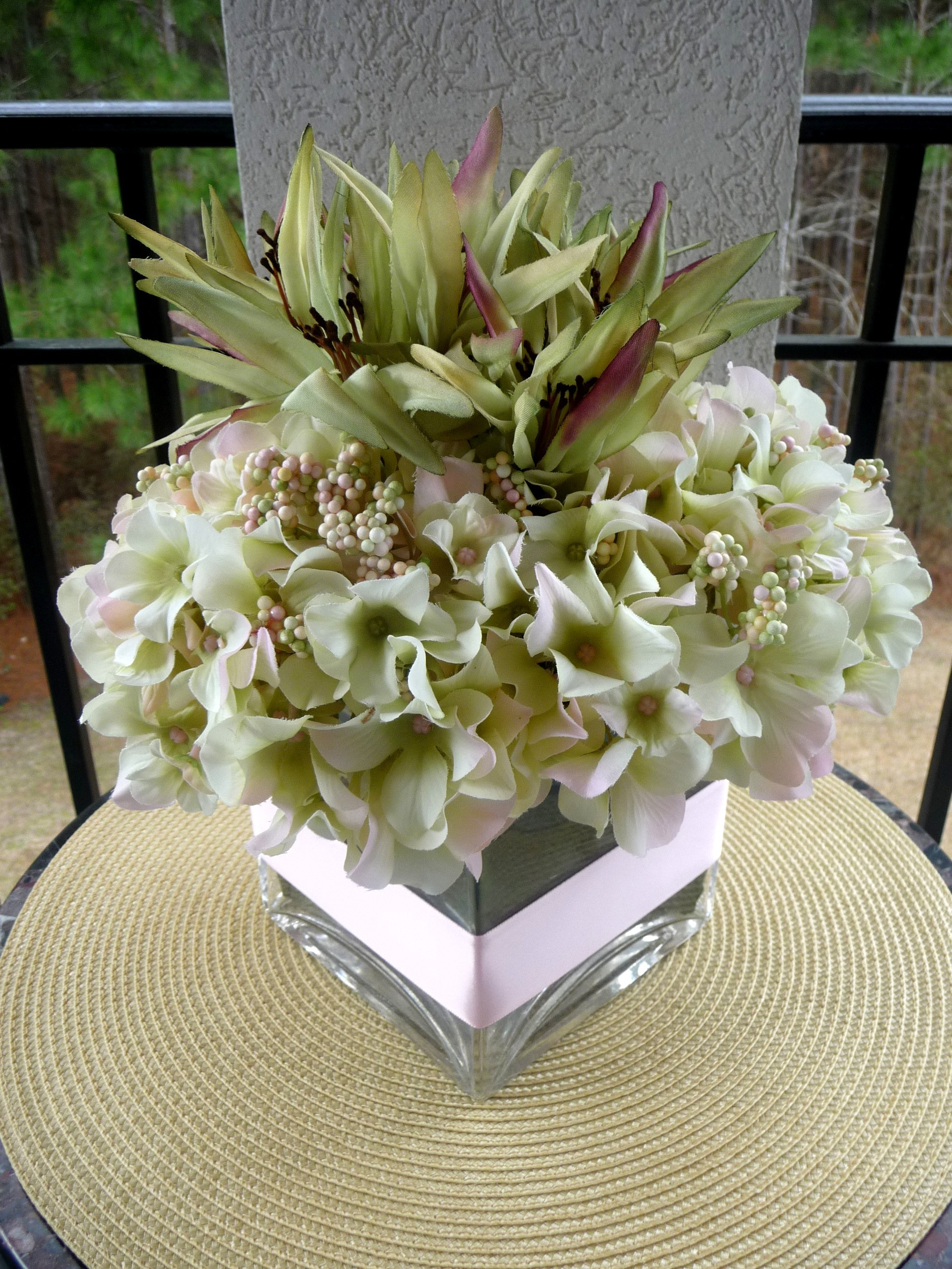 Inspiration, Reception, Flowers & Decor, Cakes, white, pink, purple, green, cake, Centerpieces, Flowers, Wedding, Lilies, Board, Hydrangea, Silks, Savannah event decor