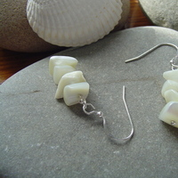 Jewelry, white, silver, Earrings, Beach, Modern, Gift, Bohemian, Feminine, Genuine, Attendant, A little practicality