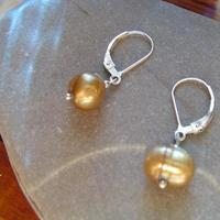Jewelry, silver, gold, Earrings, Classic, Gift, Pearl, Amber, Warm, Feminine, Genuine, Attendant, A little practicality