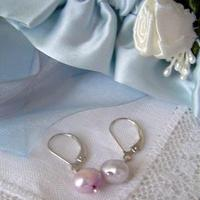Jewelry, purple, silver, Earrings, Classic, Gift, Lavender, Pearl, Feminine, Genuine, Attendant, A little practicality