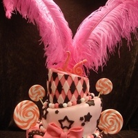 Beauty, Cakes, pink, black, cake, Feathers, Lollipops, Wbs custom cakes
