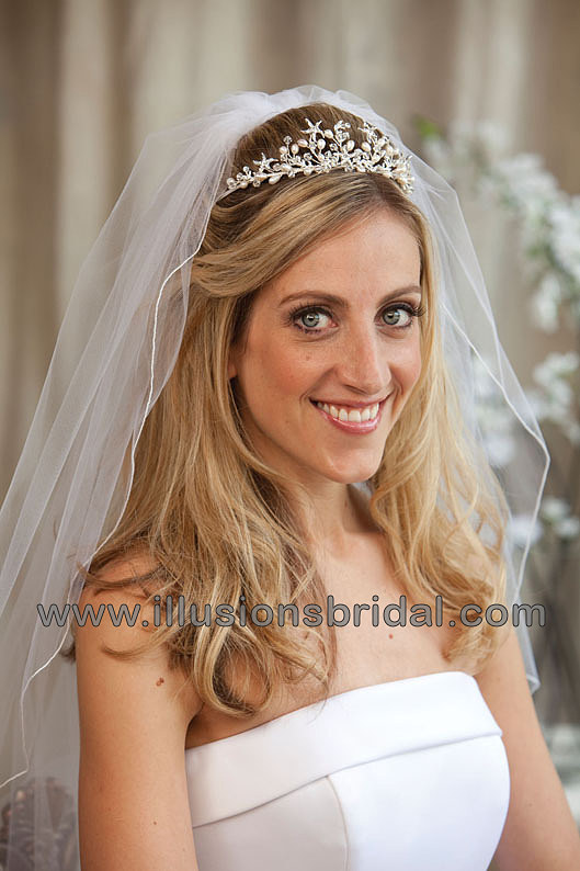 Beauty, Jewelry, white, silver, Tiaras, Hair, Tiara, Starfish, Illusions bridal veils