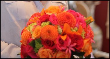 Flowers & Decor, orange, pink, green, Flowers, Calla, Lily, Dahlia