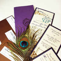 Beauty, Stationery, purple, blue, green, brown, black, invitation, Feathers, Vineyard Wedding Invitations, Invitations, Menu, Wedding, Custom, Table, Program, Elegant, Placecard, Theme, The, Number, Save, Date, Card, Peacock, Feather, My lady dye