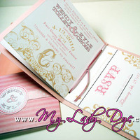 Glam Wedding Invitations, Vineyard Wedding Invitations, My lady dye