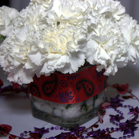 Reception, Flowers & Decor, white, red, purple, Centerpieces, Flowers, Centerpiece, Wedding, Theme, Carnations, Beads, Themed wedding, Mardi gras, N-joy weddings events