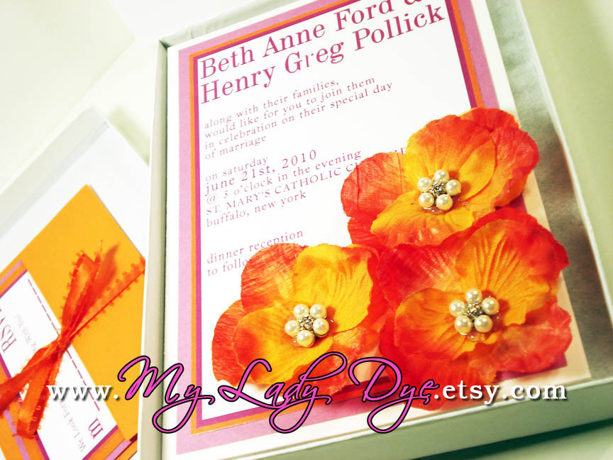 Flowers & Decor, Stationery, white, yellow, orange, pink, purple, gold, invitation, Summer, Modern, Garden, Garden Wedding Invitations, Modern Wedding Invitations, Invitations, Flowers, Garden Wedding Flowers & Decor, Modern Wedding Flowers & Decor, Menu, Wedding, Custom, Gift, Table, Program, And, Elegant, Placecard, Boxed, Theme, The, Number, Save, Date, Card, Invite, Silk, Fuchsia, My lady dye