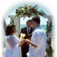 Ceremony, Flowers & Decor, blue, gold, Beach, Beach Wedding Flowers & Decor, Wedding, Weddings, Florida, Clearwater, Reviews, Testimonial