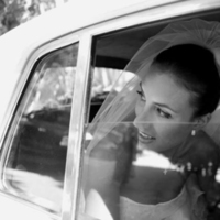 Vintage, Bride, Car, In, Charity de meer photography