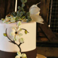 Reception, Flowers & Decor, Cakes, white, green, brown, cake, Estera events