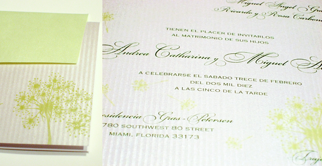 Stationery, white, green, silver, Invitations, Eva petersen design luxury invitations fine stationery