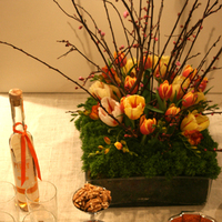 Inspiration, Reception, Flowers & Decor, orange, pink, green, Flowers, Board, Estera events