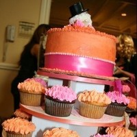 Cakes, orange, pink, cake, Party flavors