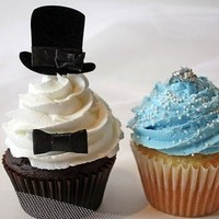 Cakes, blue, black, cake, Cupcakes, Wedding, Party flavors