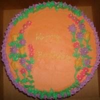 Flowers & Decor, Cakes, orange, pink, purple, cake, Flowers