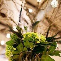 Beauty, Reception, Flowers & Decor, Feathers, Centerpieces, Centerpiece, Peacock