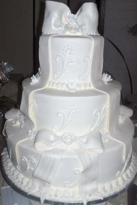 Reception, Flowers & Decor, Cakes, white, silver, cake, Wedding, Events, Special, Occasional cakes llc