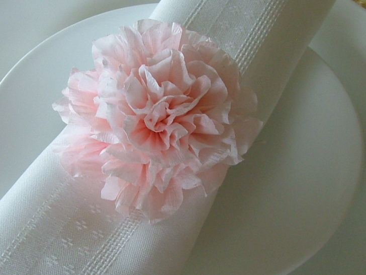 Ceremony, DIY, Inspiration, Reception, Flowers & Decor, Decor, pink, Ceremony Flowers, Flowers, Table, Elegant, Hand, Board, Napkin, Decoration, Carnations, Inexpensive, Budget, Eco, Friendly, Settings, Handmade, Pom, Poms, Treasured editions, Dye, Napkin_rings