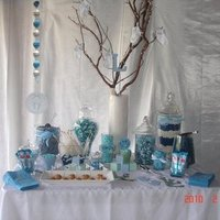white, blue, Candy, Buffet, Baby, Shower, Sweet simplicity candy dessert bars