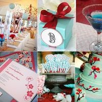 Inspiration, red, blue, Board, Tiffany, Aqua, Turquoise
