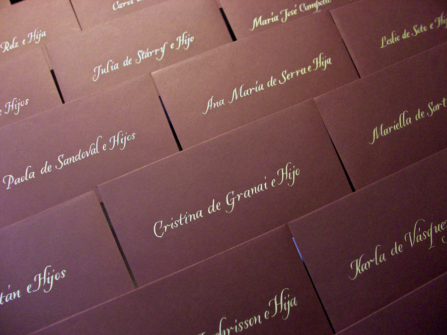 Calligraphy, Stationery, brown, gold, Invitations, Central, La caligrafa -calligraphy in central america-, America, Handwritting