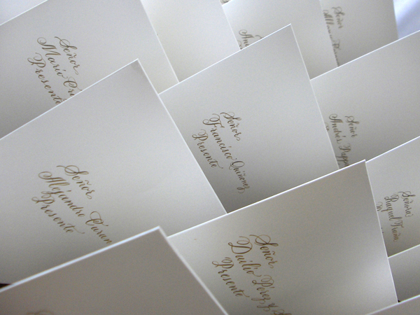 Calligraphy, Stationery, white, black, gold, Invitations, Envelopes, La caligrafa -calligraphy in central america-, Handwritting