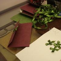Stationery, pink, green, Invitations