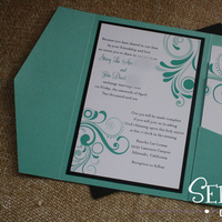blue, invitation, Tiffany, Pocketfold, Serendipity design, Invite, Swirls, Metallic, Stationery, Invitations