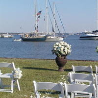 Ceremony, Flowers & Decor, white, blue, Eden events
