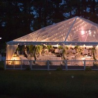 Reception, Flowers & Decor, white, pink, blue, Outdoor, Flowers, Tent, Eden events
