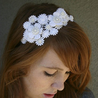 Beauty, white, Headbands, Hair, Lace, Head, Headband, Piece, Besomethingnew