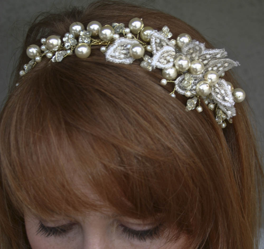 Beauty, Ceremony, Flowers & Decor, gold, Headbands, Headpiece, Pearl, Headband, R, Hai, Besomethingnew, Hgeadband