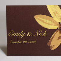 Flowers & Decor, Stationery, yellow, brown, Invitations, Flower, Daisy, Something green