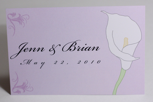Flowers & Decor, Stationery, purple, Invitations, Flower, Calla lily, Something green