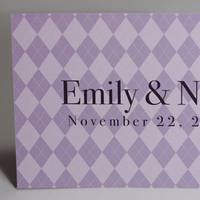 Stationery, purple, Invitations, Argyle, Something green, Video game