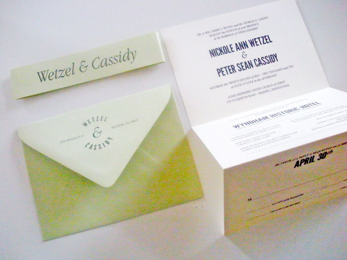 Stationery, white, green, invitation, Invitations, Custom, Postcard, Design, Accordion, Two little ducks