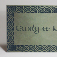 Stationery, green, Invitations, Celtic, Something green
