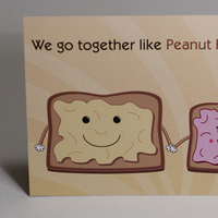 Stationery, purple, brown, Invitations, Food, Toast, Cute, Something green