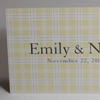 Stationery, yellow, Invitations, Plaid, Scottish, Something green