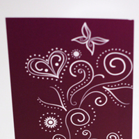 Stationery, white, purple, Invitations, Henna, Something green