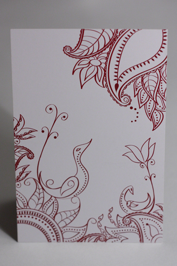 Stationery, white, red, Cultural, Invitations, Mehndi, Something green
