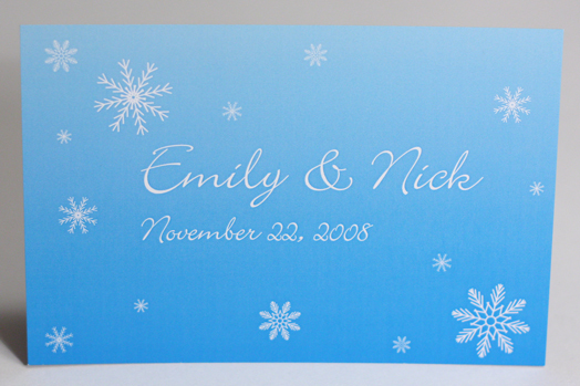 Stationery, white, blue, Winter, Invitations, Snowflakes, Something green